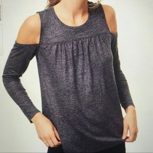 Shimmer Cold Shoulder Top